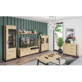 Obývací pokoj LOFT 2, dub artisan/černá