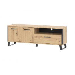 Televizní stolek LOFT, dub artisan/černá