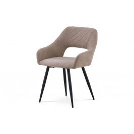 Chair, FULL Fabric backrest and seat, four legs in black matt, SEAT+BACK fabric AM-372 HC-222 LAT2