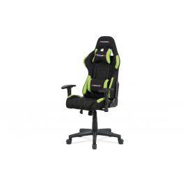Kancelářská židle, zelená látka, houpací mech, kříž plast KA-V606 GRN