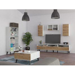 Obývací pokoj SVEN 5, craft bílý/craft zlatý