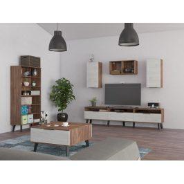 Obývací pokoj SVEN 5, craft tobaco/craft bílý Obývací stěny