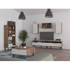 Obývací pokoj SVEN 5, craft tobaco/craft bílý