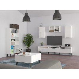 Obývací pokoj SVEN 5, bílá/bílý lesk