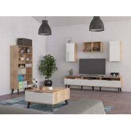 Obývací pokoj SVEN 5, dub sonoma/bílý lesk