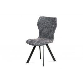 Jídelní židle, šedá látka, antik šedý kov HC-690 GREY2