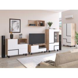 Obývací pokoj LARS 3, dub sonoma/bílá, 5 let záruka
