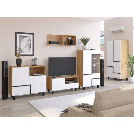 Obývací pokoj LARS 3, dub artisan/bílá, 5 let záruka Obývací stěny