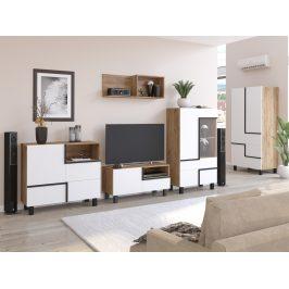 Obývací pokoj LARS 3, craft zlatý/bílá, 5 let záruka