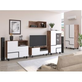 Obývací pokoj LARS 3, craft tobaco/bílá, 5 let záruka Obývací stěny