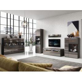 Obývací pokoj HEKTOR, antracit/antracit lesk