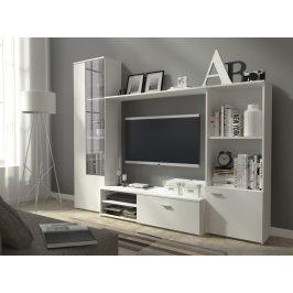 Obývací stěna HUGO, bílý mat Obývací stěny