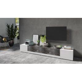 POWER I televizní stolek TYP 40, bílý lesk/shiefer