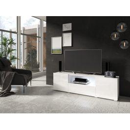 DELOS televizní stolek 2D1V TYP 41, bílý lesk