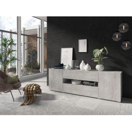 DELOS televizní stolek 2D1V1S TYP 40, beton colorado