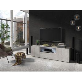 DELOS televizní stolek 2D1V TYP 41, beton colorado