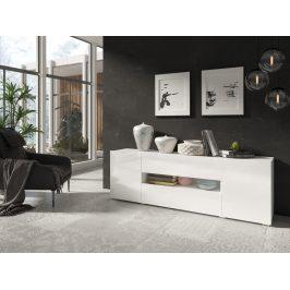DELOS televizní stolek 2D1V1S TYP 40, bílý lesk