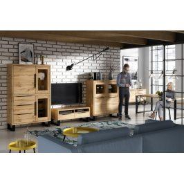 Obývací pokoj HALLE, dub wotan