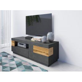 SILKE TYP 41 televizní stolek 2S1V, matera/dub wotan
