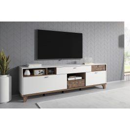 MOVE TYP 40 televizní stolek 2V3S, bílá supermatt/palazzo