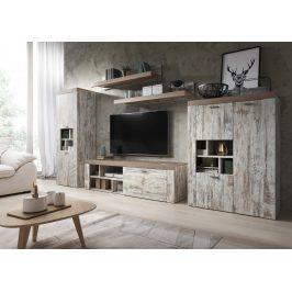 AMY TYP 10 obývací stěna, canyon white pine/sonoma trufel