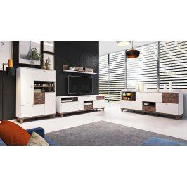 Obývací pokoj MOVE, bílá supermatt/palazzo