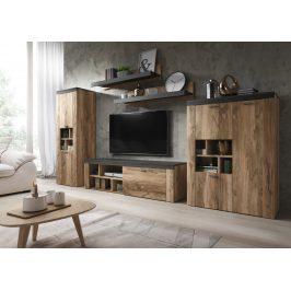 AMY TYP 10 obývací stěna, ořech satin/touchwood