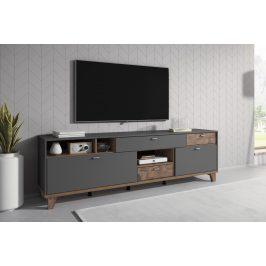 MOVE TYP 40 televizní stolek 2V3S, šedá supermatt/palazzo