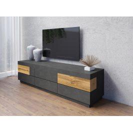 SILKE TYP 40 televizní stolek 6S, matera/dub wotan