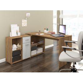 Psací stůl BEAT L levý, barva:craft zlatý/craft bílý