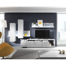 BOTA TYP 09 obývací stěna, bílá/beton colorado