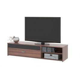 MB Domus Televizní stolek FU03, švestka/černá