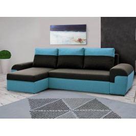 Smartshop Rohová sedačka MORY KORNER, černá/modrá
