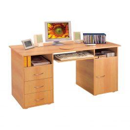 Praktický PC stůl se zásuvkami a skříňkou 194, buk