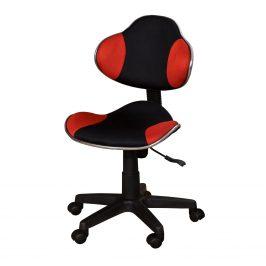 Kancelářská židle NOVA, červeno/černá barva