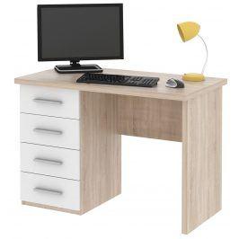 Psací stůl ROLLO, dub sonoma/bílá