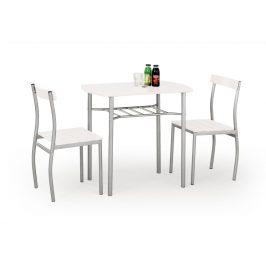 Jídelní set LANCE 1+2, bílá/kov