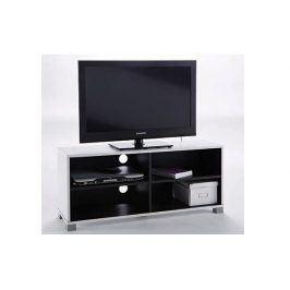 GRAFIT, TV stolek, černá/bílá, TV stolek, černá/bílá