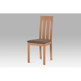 Dřevěná židle BC-2602 BUK3, buk/potah hnědý