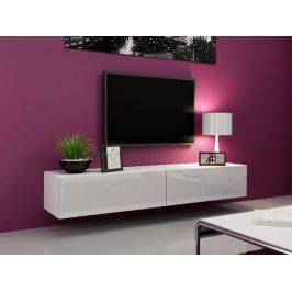 CAMA Televizní stolek VIGO, bílá/bílý lesk