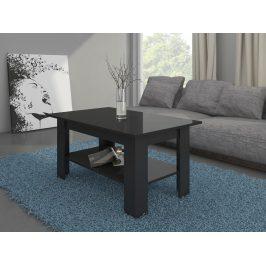 MORAVIA FLAT Konferenční stolek ELAIZA, černá/černý lesk