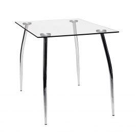 Idea Jídelní stůl GRANADA, kov/sklo