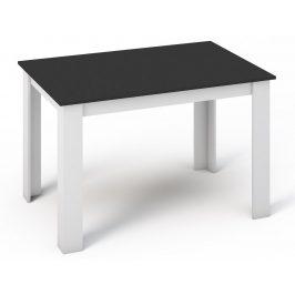 Smartshop Jídelní stůl KONGO 120x80 bílá/černá