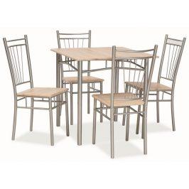 FIT, jídelní set 1+4, dub sonoma