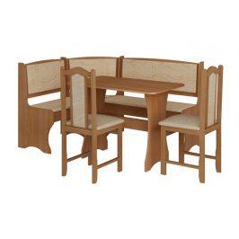 Jídelní rohový set se židlemi A, barva: ...