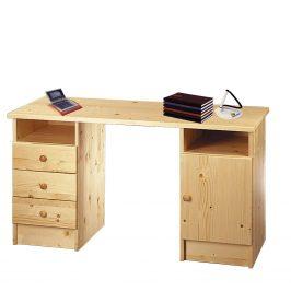 Dřevěný psací stůl 847, masiv smrk