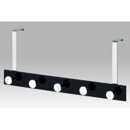 Věšák na dveře - 5 háčků, chrom/černá, GC2480-5 BK