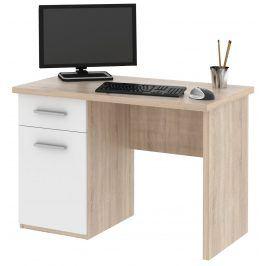 Psací stůl OLAF, dub sonoma/bílá