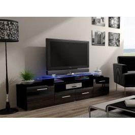 CAMA Televizní stolek RTV EVORA, černý/černý lesk Stolky pod TV