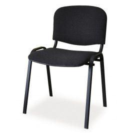Čalouněná židle ISO, černá/černá